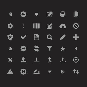 Brad Alexander Asset Tracking Icon Design.